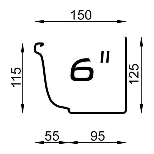 Polyline 6 inch naadloze aluminium dakgoot